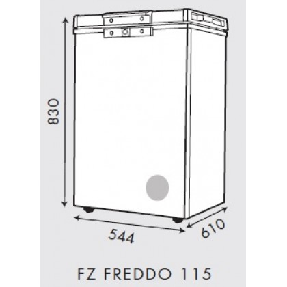 Faber 100L Chest Freezer (Grey) FZ FREDDO 115