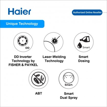 Haier (10kg) Front Load Series Washing Machine HWD100-FD756DD