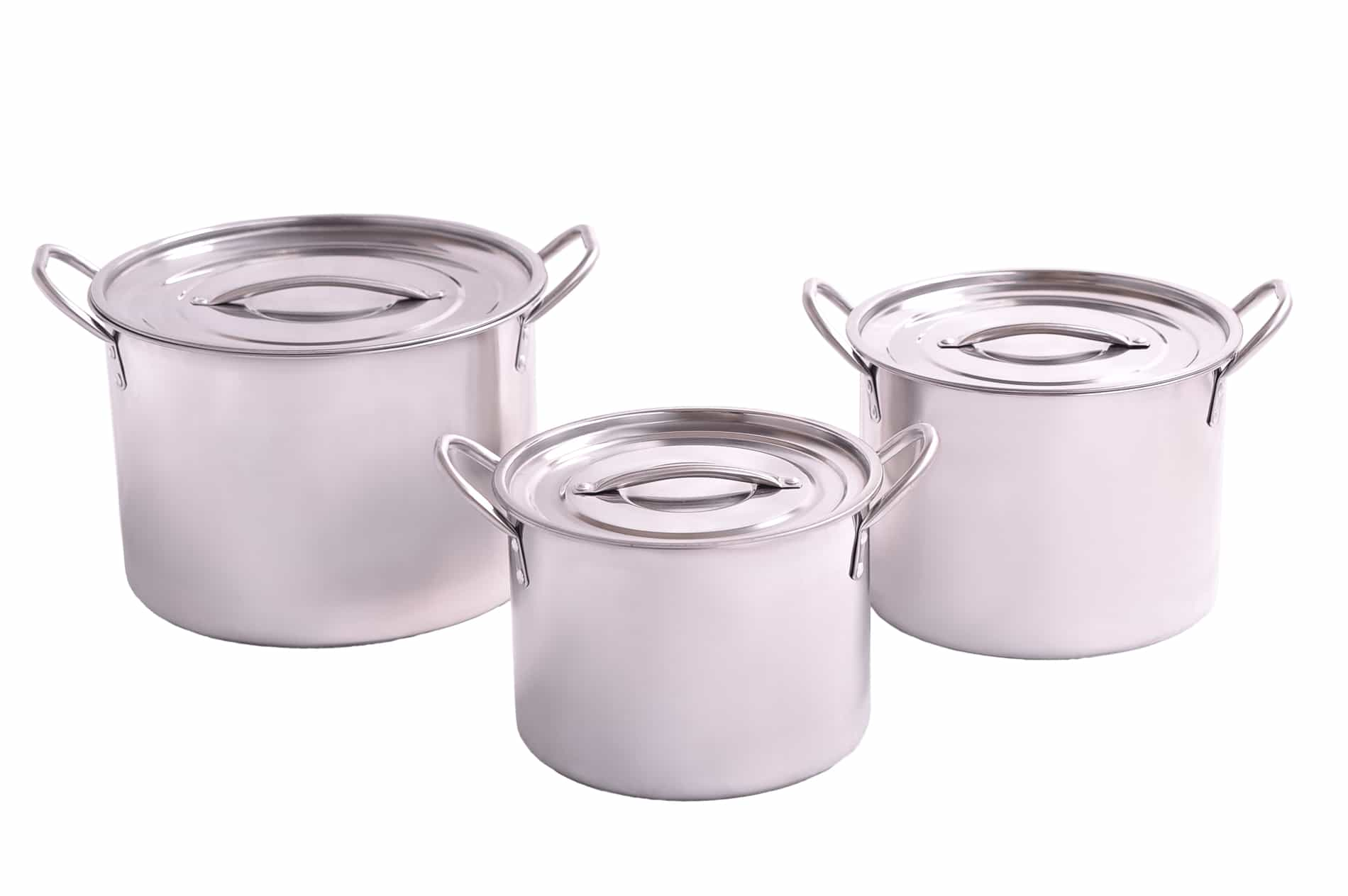 Shefu 3pcs Stainless Steel Pots (Big)